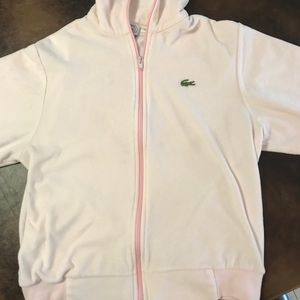 Pink LaCoste Zip-up jacket Size Medium